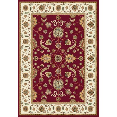 Istanbul Red/Beige Area Rug Rug Size: 5 x 8