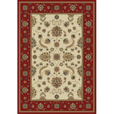 Istanbul Cream/Red Area Rug Rug Size: 5 x 8