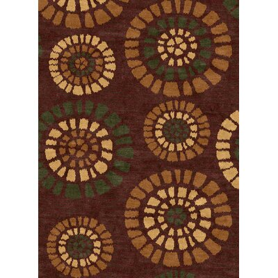 Ethnic Brown Area Rug Rug Size: 5 x 8