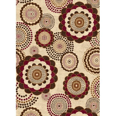 Ethnic Cream Area Rug Rug Size: 5 x 8