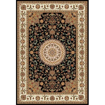 Istanbul Black/Brown Area Rug Rug Size: 5 x 8