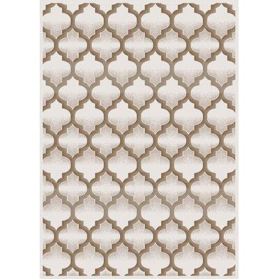 Cream Area Rug Rug Size: 5 x 8