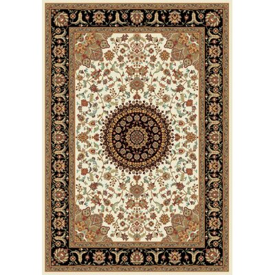 Istanbul Cream/Brown Area Rug Rug Size: 5 x 8