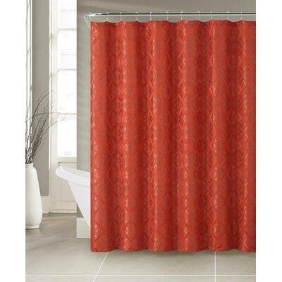 lucas 13 piece jacquard shower curtain set color rust