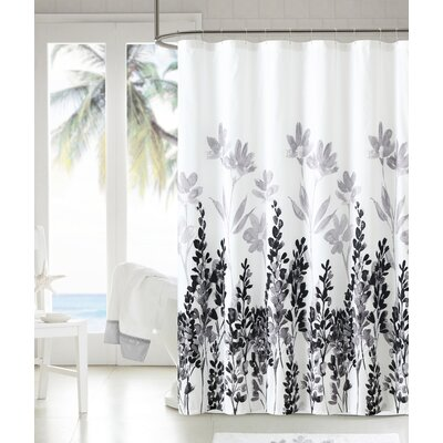 Mirage Shower Curtain Color: Black/White