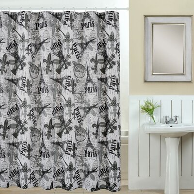 Paris 13 Piece Printed Shower Curtain Set