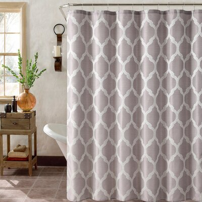 Foli Trellis Shower Curtain Set Color: Lavender
