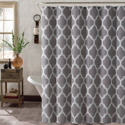 Foli Trellis Shower Curtain Set Color: Gray