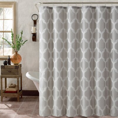 Foli Trellis Shower Curtain Set Color: Silver