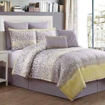 Ryder 8 Piece Comforter Set Color: Grey, Size: Queen