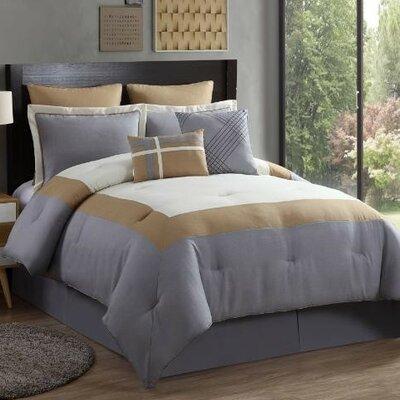 Amadora 8 Piece Comforter Set Color: Yellow, Size: Queen