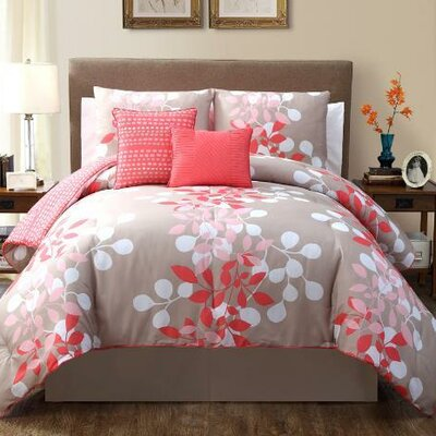 Ellory Comforter Set Color: Pink, Size: Queen