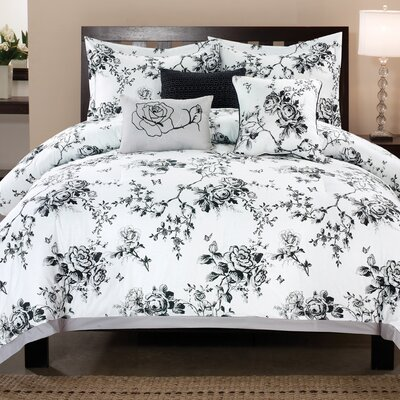 Rose Hill 6 Piece Comforter Set Size: Queen