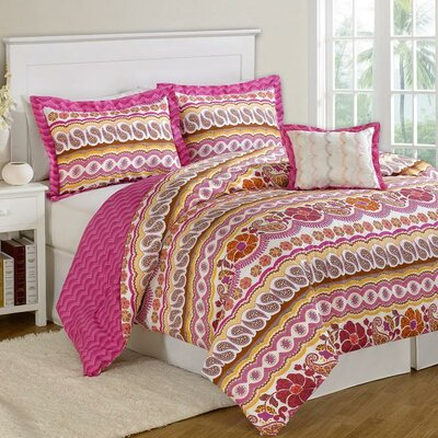 Paisley Dream 8 Piece Bed-In-A-Bag Set Size: King