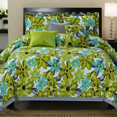 Somerset 6 Piece Comforter Set Size: Queen