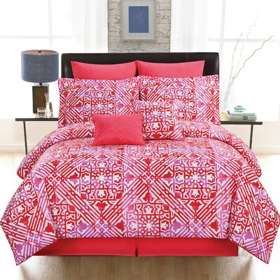Tangiers 8 Piece Comforter Set Size: King