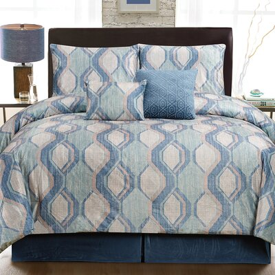 Cole 6 Piece Comforter Set Size: Queen