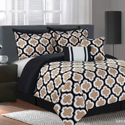 Grandview 7 Piece Comforter Set Size: King