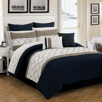 Dalston 12 Piece Comforter Set Size: King