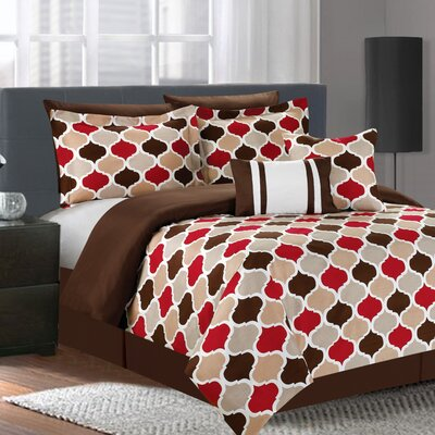 Serene 7 Piece Comforter Set Size: King