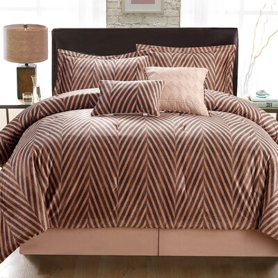 Jeremy 6 Piece Comforter Set Size: King