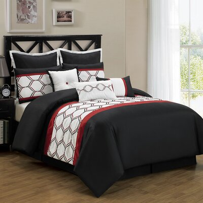Ribbon 8 Piece Comforter Set Size: Queen