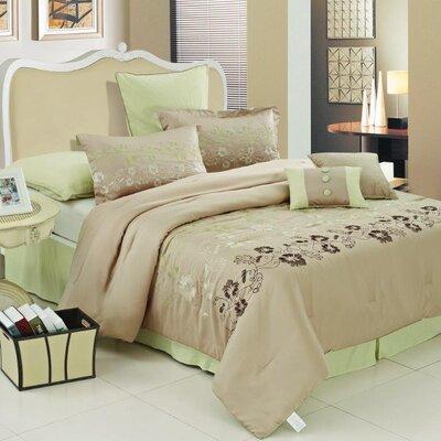 Verde Floral Comforter Set Size: King