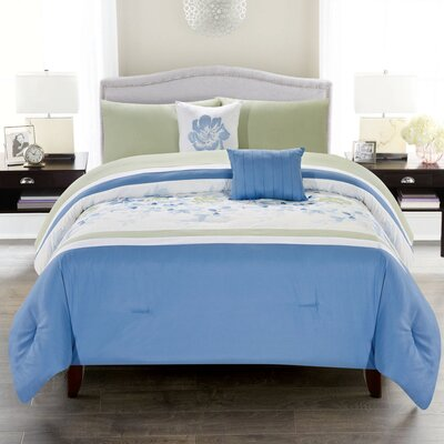 Cottage 5 Piece Comforter Set Size: Queen
