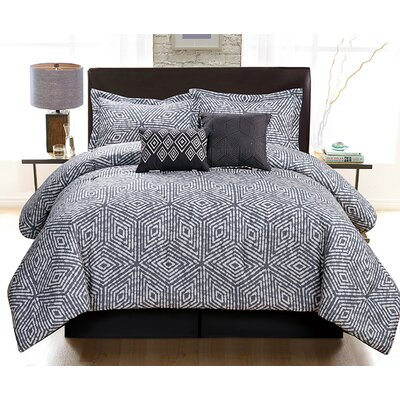 Ella 6 Piece Comforter Set Size: King