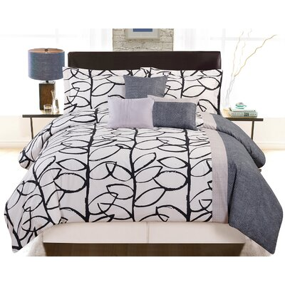 Perry 6 Piece Comforter Set Size: Queen
