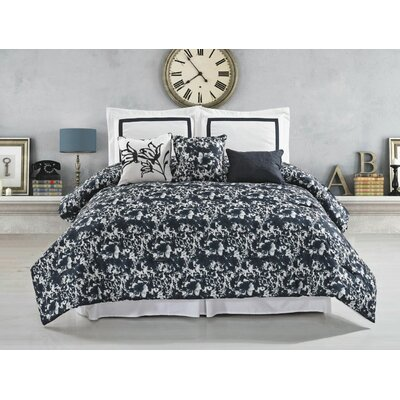 Pierre 6 Piece Comforter Set Size: King