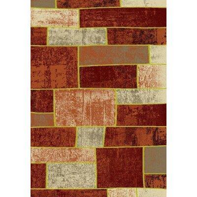 Metropolitan Brick Area Rug Rug Size: 5 x 8