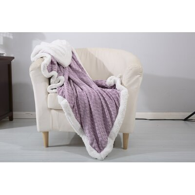 Mermaid Sherpa Throw Color: Lavender