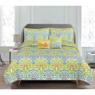 Dakota 5 Piece Reversible Comforter Set Size: Queen
