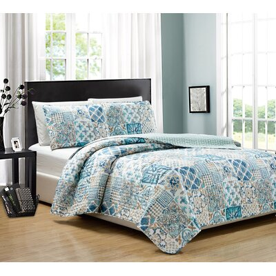 Nolita 3 Piece Quilt Set Size: Queen