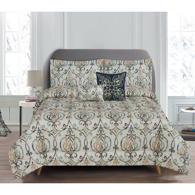 Butler 5 Piece Reversible Comforter Set Size: King