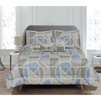 Indigo 5 Piece Reversible Comforter Set Size: Queen
