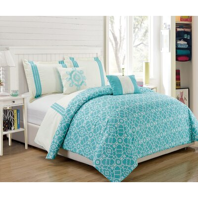 Hotel Brentwood 5 Piece Reversible Comforter Set Size: King