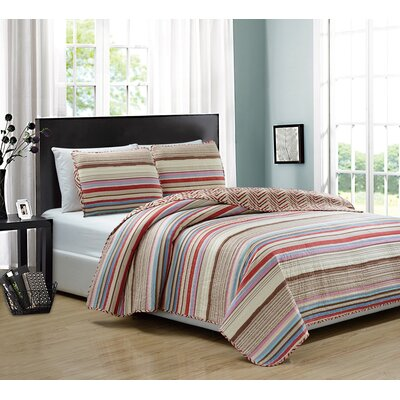 Marley 3 Piece Quilt Set Size: King