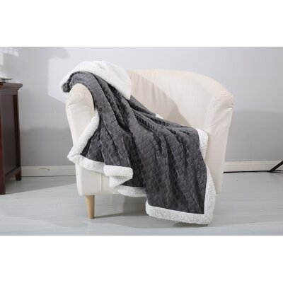 Mermaid Sherpa Throw Color: Gray