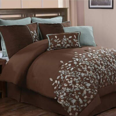 Queen Blue Brown Comforter Sets | Wayfair