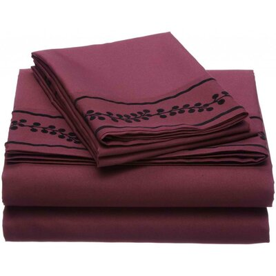 Ruby Microfiber Sheet Set Size: Full, Color: Brick