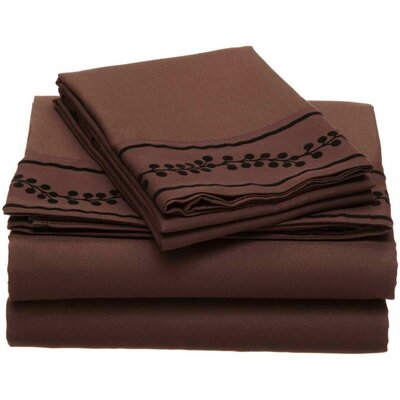 Ruby Microfiber Sheet Set Size: Queen, Color: Chocolate