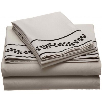 Ruby Microfiber Sheet Set Size: Full, Color: Stone