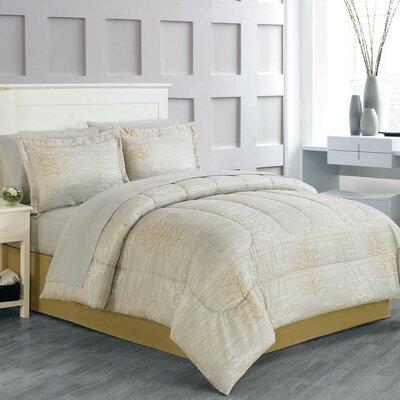 Beilla 8 Piece Comforter Set Size: Twin
