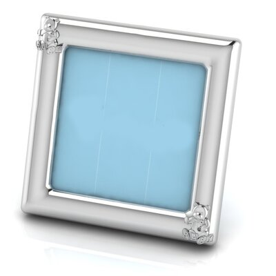 Sterling Silver Teddy Square Picture Frame Color: Blue HBEE2979 40068865