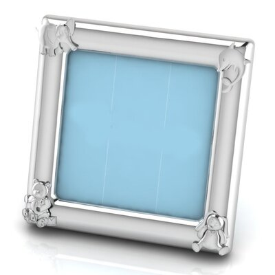 Sterling Silver Animal Square Picture Frame Color: Blue HBEE2992 40068965