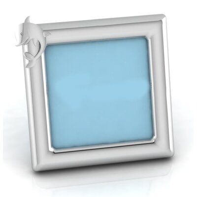 Sterling Silver Dolphin Square Picture Frame Color: Blue HBEE2977 40068849