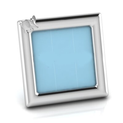 Sterling Silver Elephant Square Picture Frame Color: Blue HBEE2978 40068859