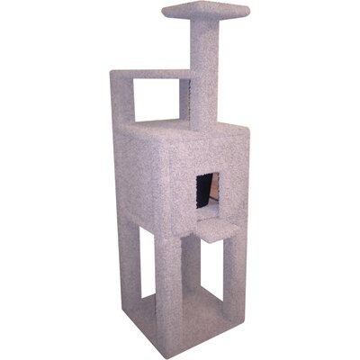 Low Price Posh Kitty Condos Single Step Triangle Cat Condo And Litter Box Enclosure Slider